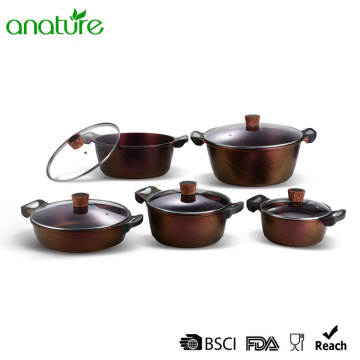 10 Piezas Die Cast Non Stick Stock Pot
