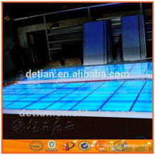 Éclairage plancher surélevé, scène de plate-forme en verre portable pour le salon commercial