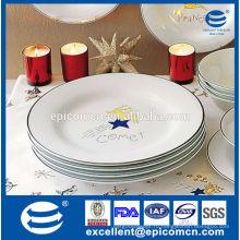 2015 hot products серебряный ободок с кометой декора фарфоровые тарелки для рождества