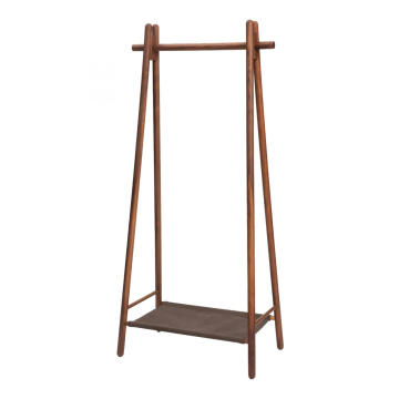 FAS Walnut Massivt Træ Coat Rack Hanger