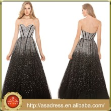 XPD12 Stunning Sweetheart Long A-Line Evening Gown Gorgeous Heavy Beaded Prom Dresses