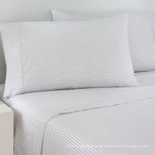 100% Cotton Satin Strip Bedding Linen for Hotel / Home (WS-2016344)
