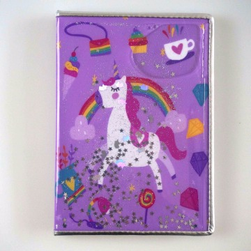 UNICORN LIQUID GLITTER NOTEBOOK-0