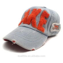 Rag cowboy fabric with brushed logo and metal backle baseball cap