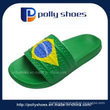 New Brasil Unisex Mens Flip Flop Sandals Blue Yellow