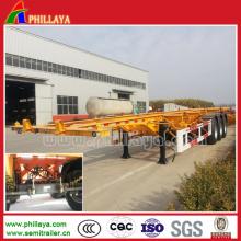 Heavy Duty Truck Container Transportation Skeletal Semi Trailer Price (PLY9350TJZG)