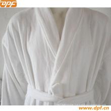 High Quality White Piping Velvet Bathrobe (DPR3012)