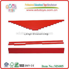 Montessori toys Long Red Rods