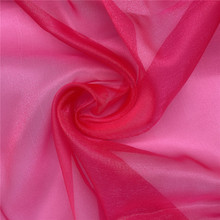 Sparkle Organza Tul Fuschia Fabric para Lady Dress