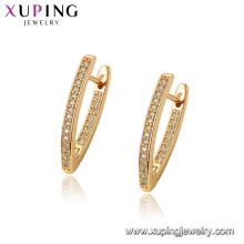 97069 xuping hoop 18k couleur or luxe synthétique CZ femmes boucles d'oreilles