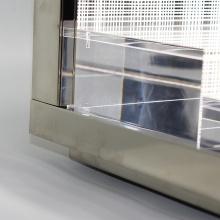 Rack de exposição de cosméticos acrílico transparente com LED personalizado APEX