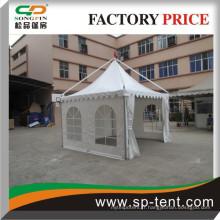 Tente de commerce de luxe en aluminium extérieur avec fenêtre en PVC pour exposition