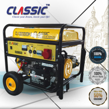 CHINA CLÁSICA Motor de cilindro único generador 7kv, fuente de alimentación eléctrica 7kw generador de gasolina