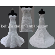2011 mais recente design -Mermaid Style famoso designer junoesque vestido de noiva