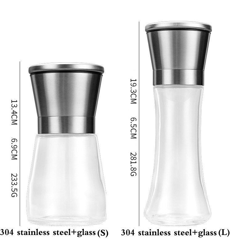 304 Stainless Bottle Pepper Grinder