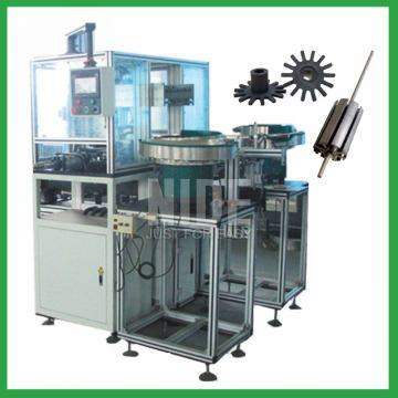 Automatic armature plastic rotor end plate pressing machine