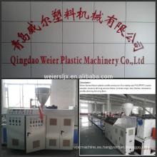 tamaño de tipo hueco de 150mm WPC decking perfil maquinaria de la producción