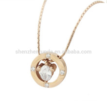 Wholesale Summer New Products 2015 Fashion Rose Gold Stainless Steel Metal Round Pendants Necklaces Accessories Jewelry
