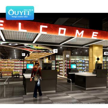 Factory Direct Sale Shelf Guangdong Machine Wooden For Supermarket Rack Gondola Shelving Supermarket Shelves
