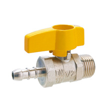 Male Butterfly Handle Brass Gas Ball Valve