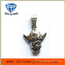 Edelstahl-Gussteil-Schmucksache-Schädel-Halsketten-Anhänger