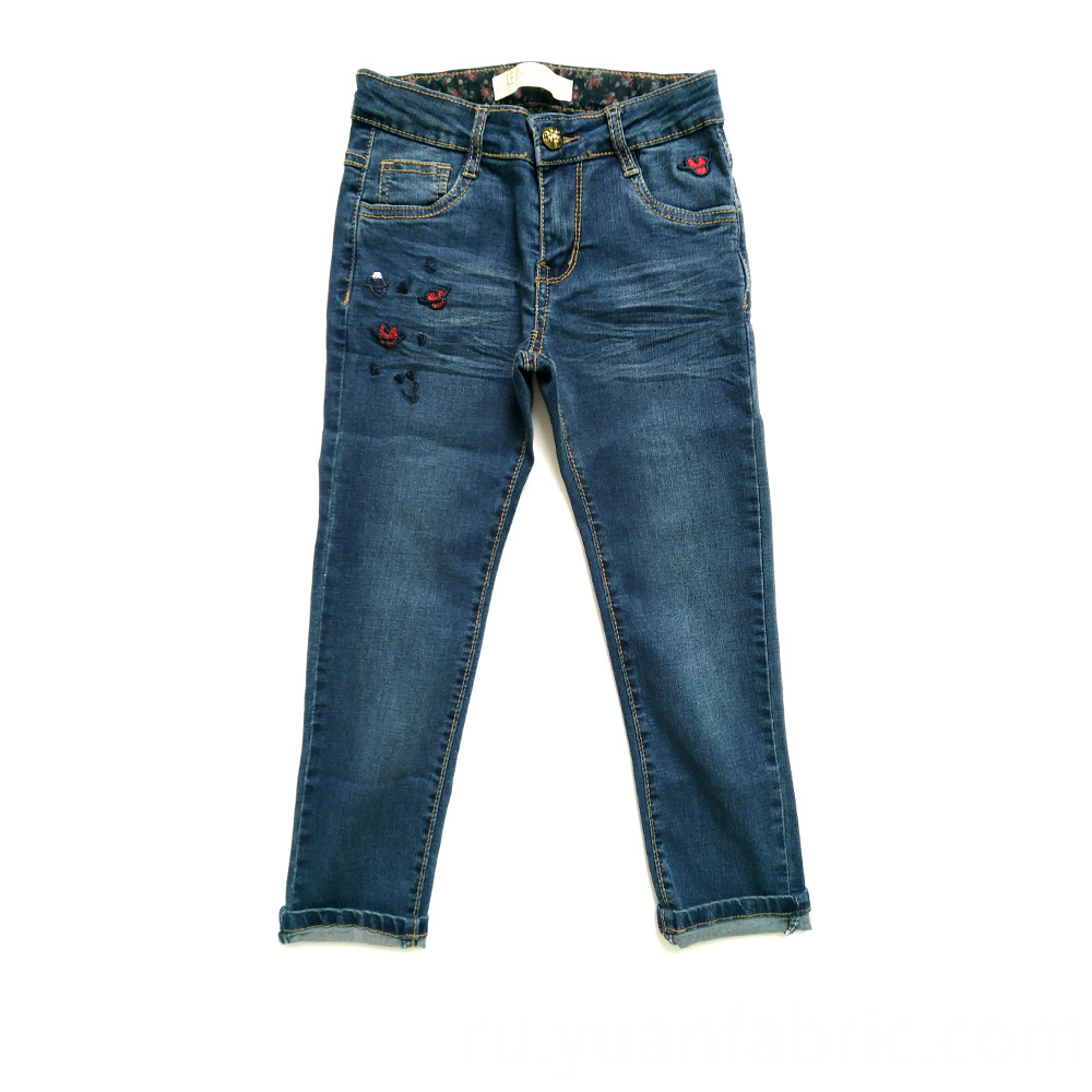 815 Cotton Blend Kid Jeans Girls Pants
