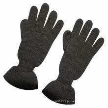 Luvas de vestido de lã morna moda acrílico de malha de inverno quente (yky5426)