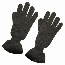 Леди мода шерсть акрил вязаный зима теплая платье перчатки (YKY5426)