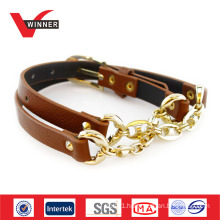 Alloy buckle material slim belt with metal chain