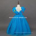 Cinderella cospay dress in TV& Movie costume 2016 new design blue color princess dress designs