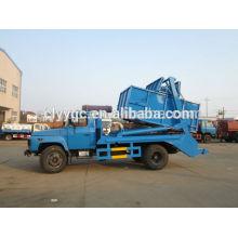 Dongfeng capacidade 6cbm sistema hidráulico braço roll container reciclar caminhão