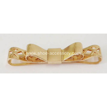 Double Bowknot Metal Buckle with Rose Gold Plated