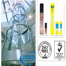 Precio competitivo de alta velocidad Sightseeing Panoramic Lifter Elevator