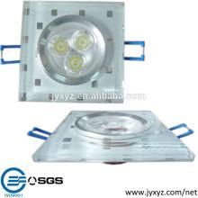 Shenzhen oem moulage sous pression en alliage d'aluminium plafond ventilateur lustre combo éclairage