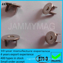 super strong natural magnetic push button for clothing