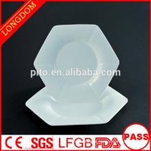 2015 prato de prato de placa de jantar único de porcelana branca de design novo