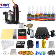 Kit de tatouage débutant TK105-20 de Solong avec des kits de tatouage d'alimentation d'énergie de pistolet de tatouage avec des aiguilles