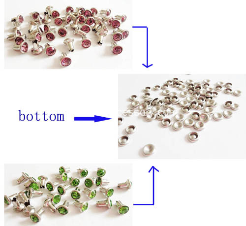 Jagged Bottom Rhinestone Rivets for Jeans
