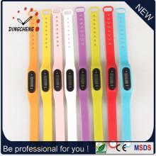 Schrittzähler Uhren Sport Armbanduhr Silikon Armbanduhr (DC-003)