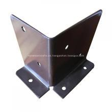 Soporte de valla de metal de acero galvanizado con recubrimiento en polvo