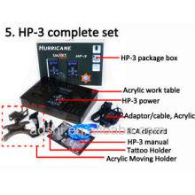 2013 la Innovación técnica Touch screem HP-3 huracán tatuaje fuente de alimentación