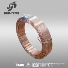 Alambre de cobre sumergido en co2 protegido con gas sumergido alambre de soldadura em12k