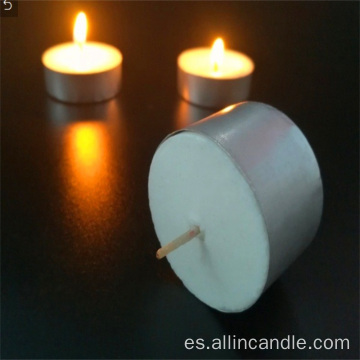 Vela Tealight blanca ardiente larga 13g