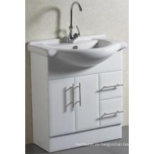 Gabinete de baño sólido montado en el piso sanitario de Ware con el lavabo (A-75)