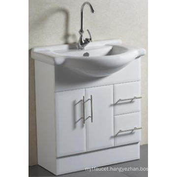 Sanitary Ware Floor Mounted Solid Bathroom Cabinet with Basin (A-75)