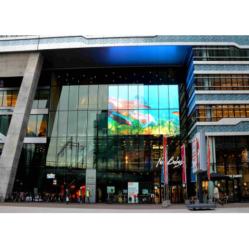 Building Facade IP67 Mesh LED Display Wall
