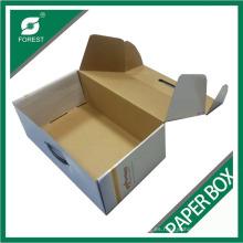 Caja de papel corrugado brillante