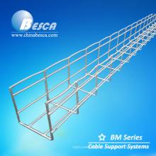 Bandeja de cable de malla de alambre de acero inoxidable 100x100 (fabricación)