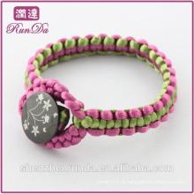 Alibaba mão chegada nova tricô corda pulseiras
