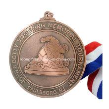 Prix de gros concours ronde médaille personnalisée
